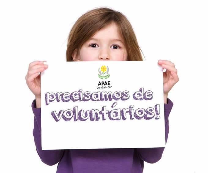 Quer ser voluntário da APAE de Jundiaí?