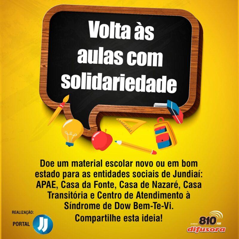 Grupo JJ/Difusora lança campanha Volta às aulas com solidariedade