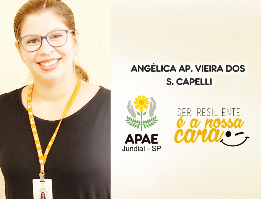 """""""A APAE apostou em mim, confiou no meu trabalho"""", conta Angélica"""